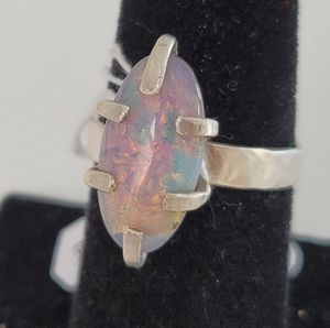 Opal Pronged Ring