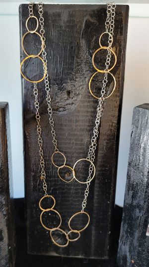 Double Abstract Circle Necklace
