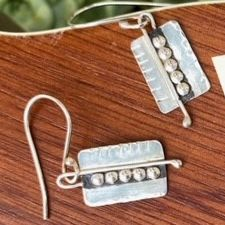Sterling Earrings with Dots