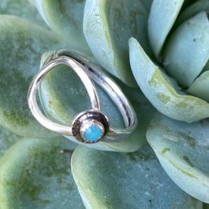 Sterling & Amazonite Ring