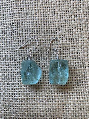 Glass Ice Cube Earrings