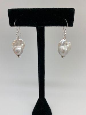 White Pearl Earrings