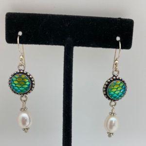 Pearl/Mermaid Bead Earrings