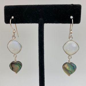 Abalone/Crystal Earrings