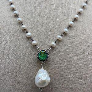 Mermaid Bead & Baroque Pearl Necklace