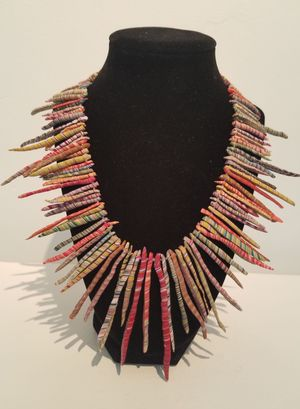 Sustainable Coral Statement Necklace