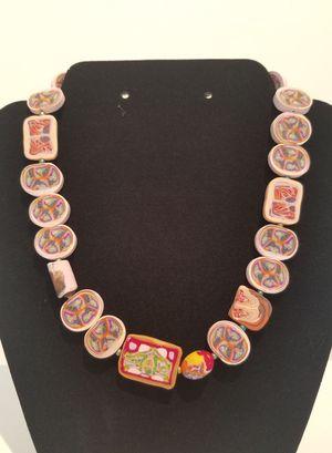 Pink Ovals & Squares Necklace