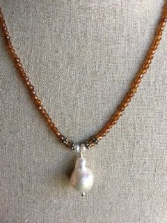 Garnet & Pearl Necklace