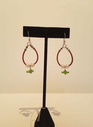 Sea Glass & Pearl Earrings