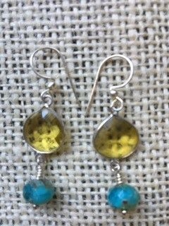 Amber & Turquoise Earrings