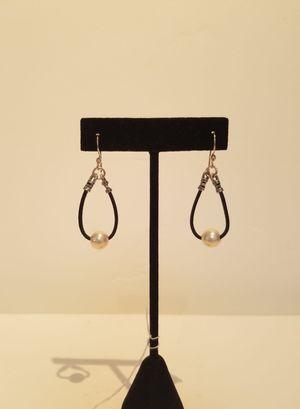 Pearl & Leather Earrings