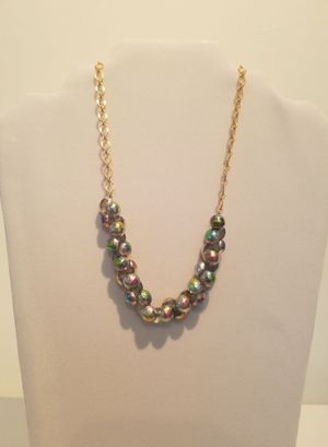 Beaded Necklace With A Gold Plated Chain