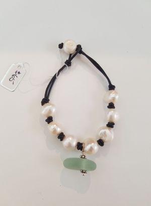 Pearl & Sea Glass Bracelet