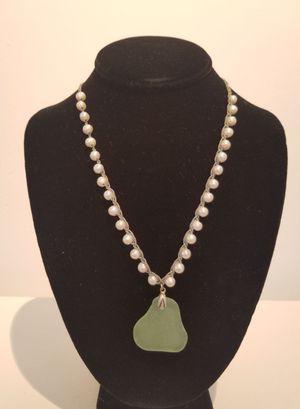 Sea Glass & Pearl Necklace