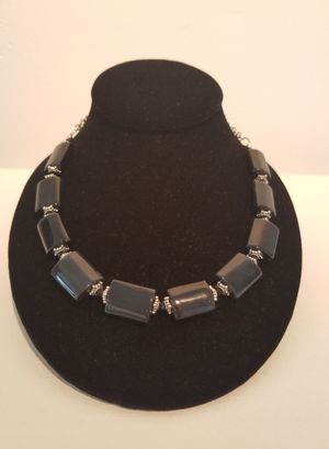 Black Agate Collar Necklace