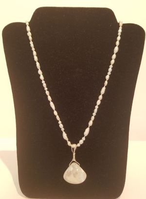 Ivory Pearl Necklace & Shell Pendant
