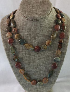 Knotted Picasso Jasper Necklace