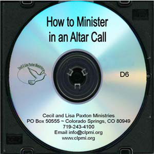 How to Minister in an Altar Call