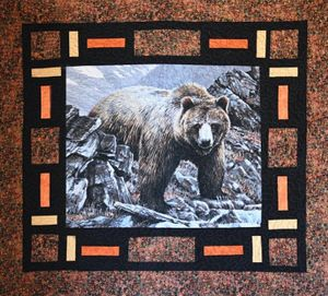 Raffle Ticket for Grizzly Bear Quilt Blanket by Peggy Bucholz & Donna Dunn