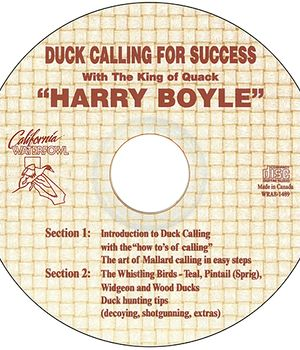 Duck Calling for Success CD - Harry Boyle