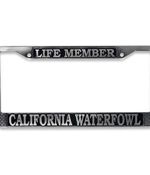 Life Member License Plate Frame