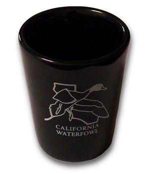 CWA Black Shot Glass