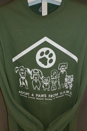 Adopt 4 Paws from HAWS - Army Green
