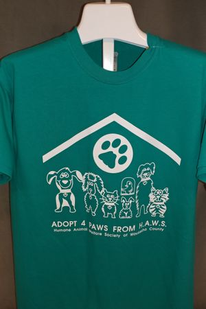 Adopt 4 Paws from HAWS - Teal