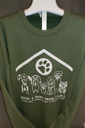 Adopt 4 Paws from HAWS - Army Green Sweatshirt XXL