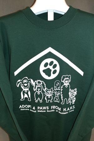 Adopt 4 Paws from HAWS - Dark Green Sweatshirt