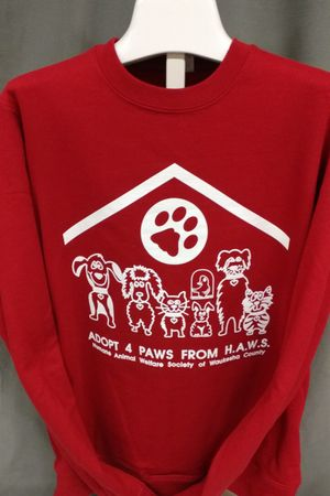Adopt 4 Paws from HAWS - Red Sweatshirt