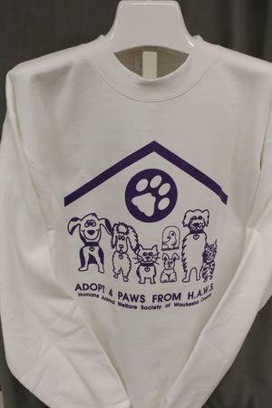 Adopt 4 Paws from HAWS - White/Purple Sweatshirt