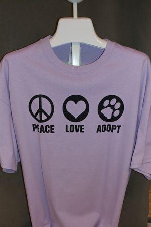 Peace Love Adopt - Orange or Orchid