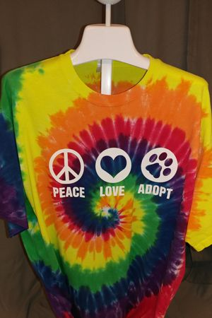 Peace Love Adopt - SALE - SS Tie Dyed Shirt - Size Large