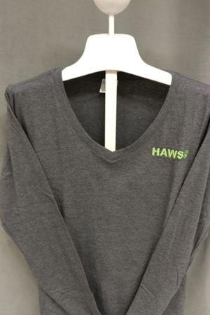 V-Neck Knit Shirt (Ladies) - Gray