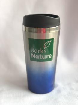 Berks Nature Blue/Silver Ombre Travel Coffee Mug