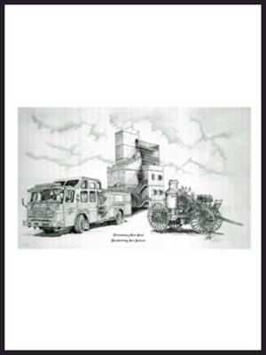 Original Black & White Engine Print